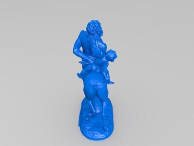 半人马与爱神-3d打印模型