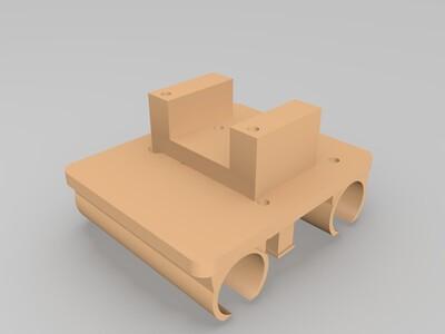 I3挤出机支架CR8 喷头喷嘴固定一体-3d打印模型