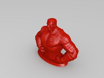钢力士存钱罐-3d打印模型