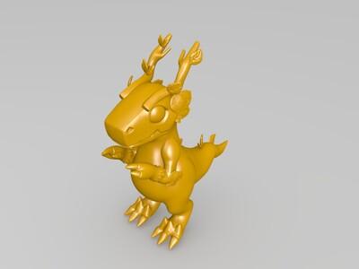 萌龙大乱斗——树木龙-3d打印模型