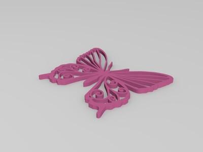 蝴蝶-3d打印模型