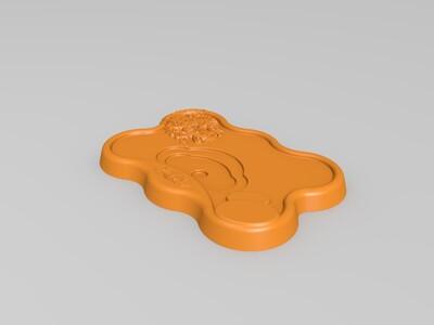 麒麟浮雕茶盘-3d打印模型