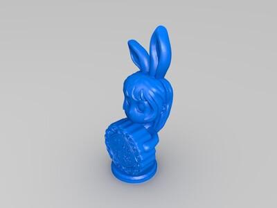 中秋Q版兔女郎-3d打印模型