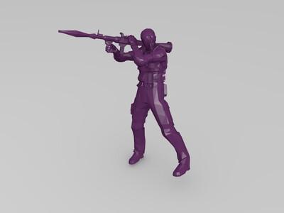 生化危机警察SWAT与RPG-3d打印模型
