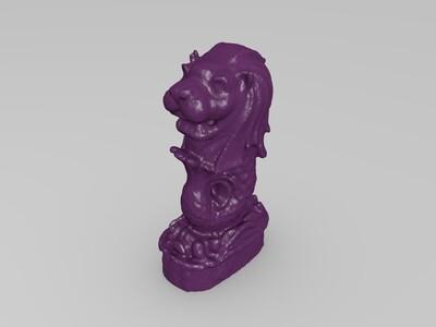 鱼尾狮-3d打印模型