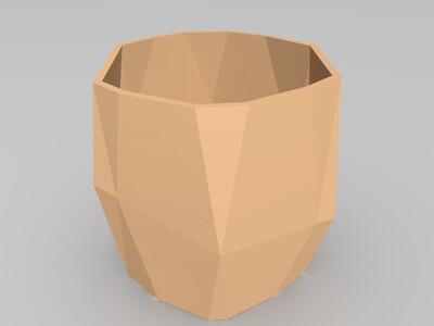 多肉盆-3d打印模型