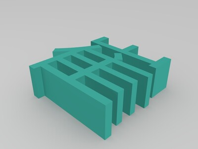 多功能sd卡储存盒-3d打印模型