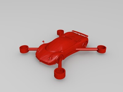 无人机车-3d打印模型