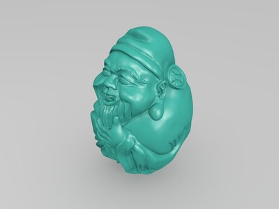 核雕财神-3d打印模型