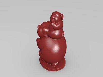 大猪小猪-3d打印模型