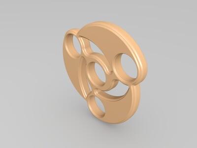 血轮眼指尖螺旋-3d打印模型
