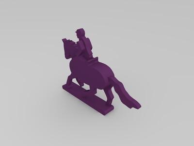 马和骑士-3d打印模型