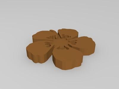 夏威夷花-3d打印模型