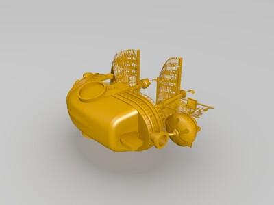 万里阳光海盗船-3d打印模型