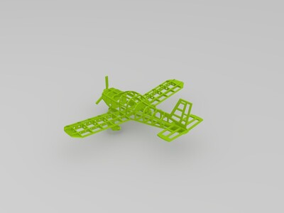 骨架飞机-3d打印模型