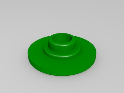 指尖陀螺 减压神器  三角指尖陀螺+轴承盖子-3d打印模型