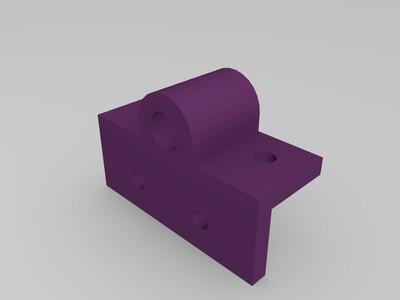 2020铝材直径10MM光杆固定座-3d打印模型