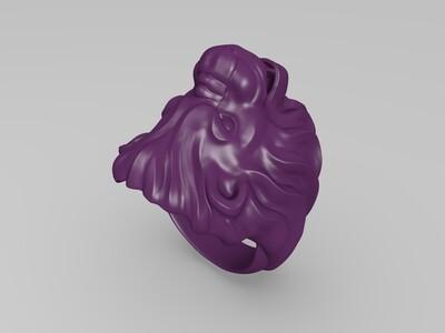 精品雄狮戒指-3d打印模型