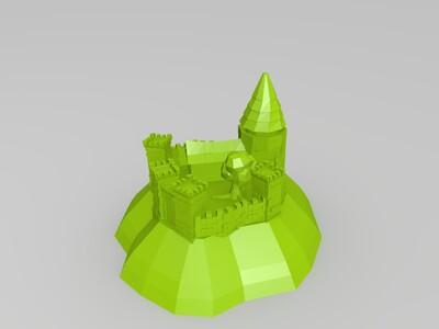 岛上城堡-3d打印模型