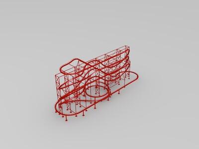 过山车 轨道-3d打印模型