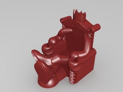 王座手机支架-3d打印模型