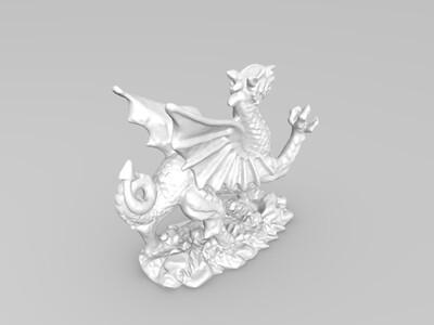 威尔士龙-3d打印模型