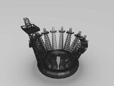 环形阵列塔-3d打印模型
