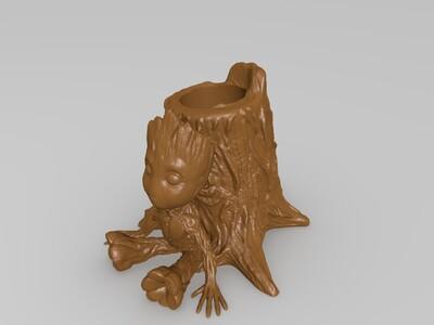 树人 格鲁斯 笔筒-3d打印模型