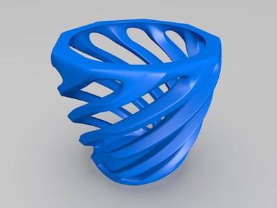 壁挂花盆-3d打印模型