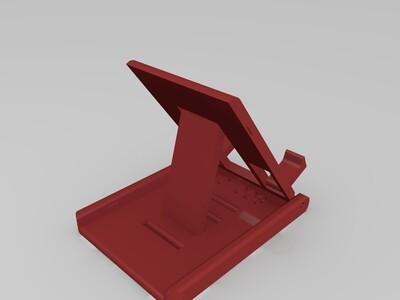 可折叠的手机架-3d打印模型