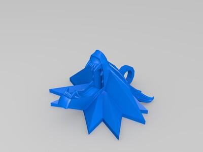龙吊饰-3d打印模型