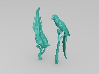 双鹰-3d打印模型