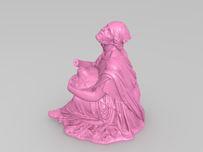 老女人与花瓶-3d打印模型