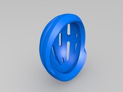 扭转和弯曲美洲狮-3d打印模型