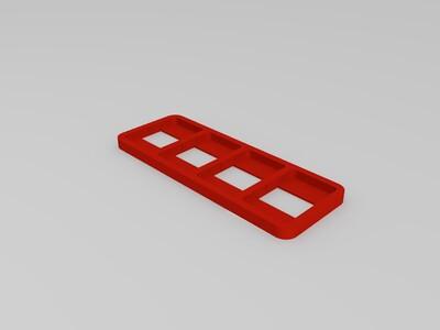 任天堂游戏匣收纳盒-3d打印模型