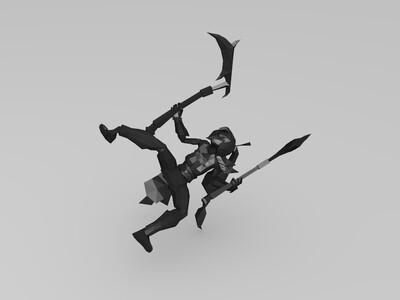 阿卡丽-3d打印模型