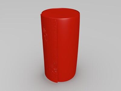美女灯箱-3d打印模型