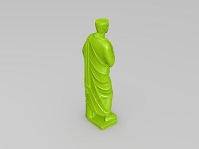 披着斗篷的罗马人-3d打印模型