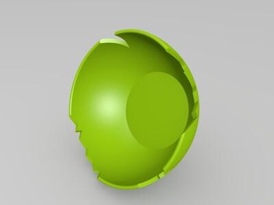 源氏头盔 面数少造型6 守望先锋-3d打印模型