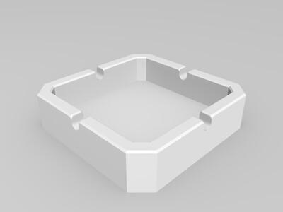 标准烟灰缸-3d打印模型
