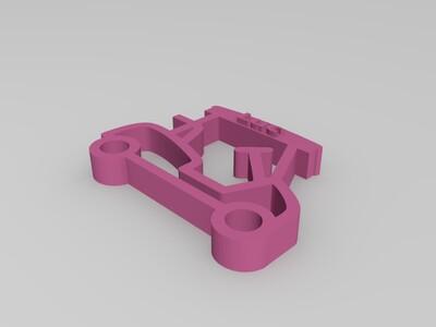 车钥匙扣-3d打印模型