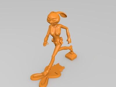 疯狂动物城-朱迪(跑步)高精度-3d打印模型