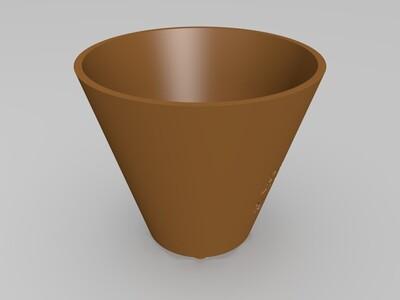 小花盆-3d打印模型