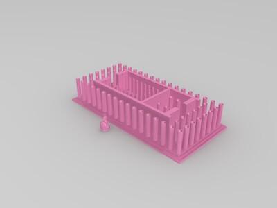 帕台农神庙+雅典娜雕像-3d打印模型