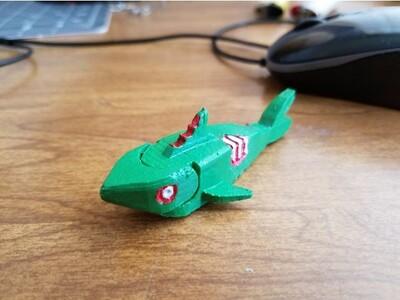 僵尸鲨鱼-3d打印模型