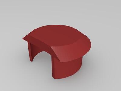 汽车用多用途水杯架-3d打印模型
