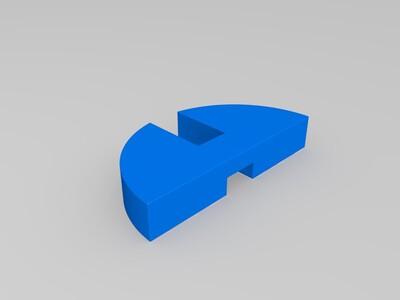 圆形鲁班锁-3d打印模型