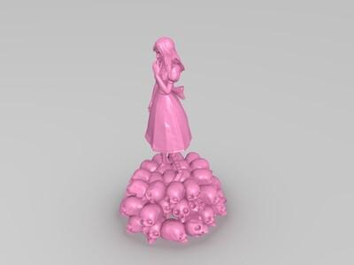 骷髅少女-3d打印模型