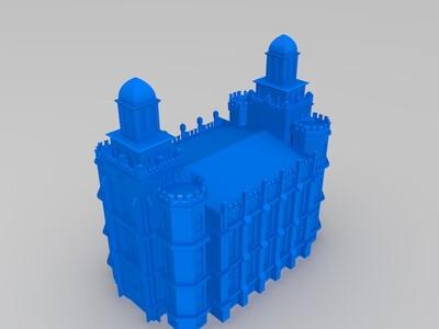 洛根犹他神庙-3d打印模型