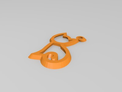猫坠-3d打印模型